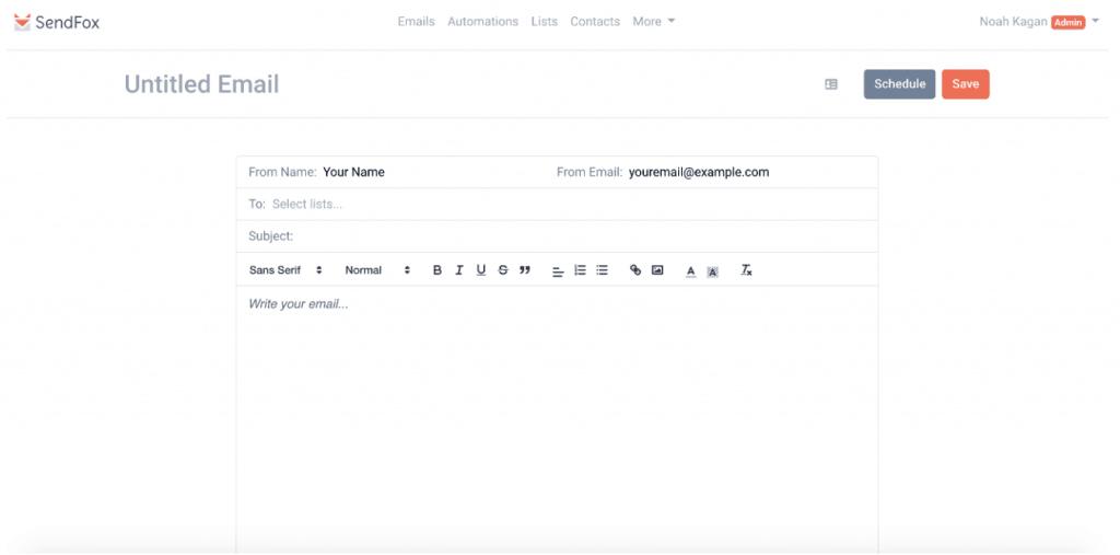 sendfox mail toolperfreelance