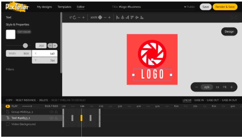 pixteller logo creator